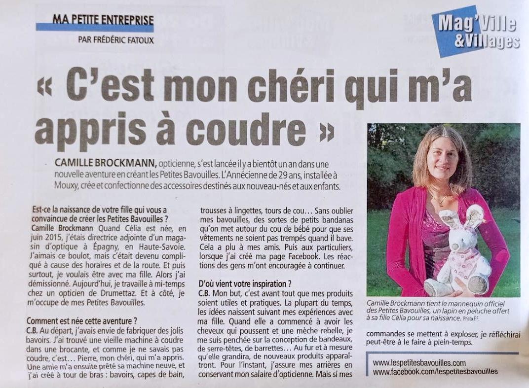 interview les petites Bavouilles dans le mag'ville Aix-les-bains