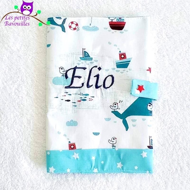 Protège carnet de santé brodé Elio