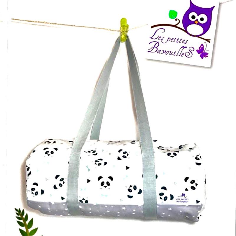 sac polochon panda tissu